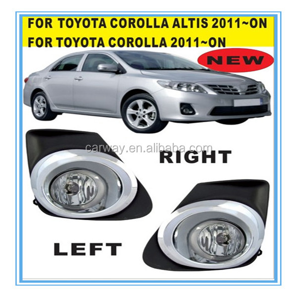 Auto parts For Toyota Corolla Altis 2011 to 2013 fog lamps