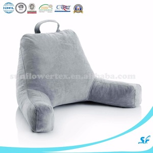 Backrest pillow, TV pillow, Shredded memory foam reading pillow best bed chair pillow