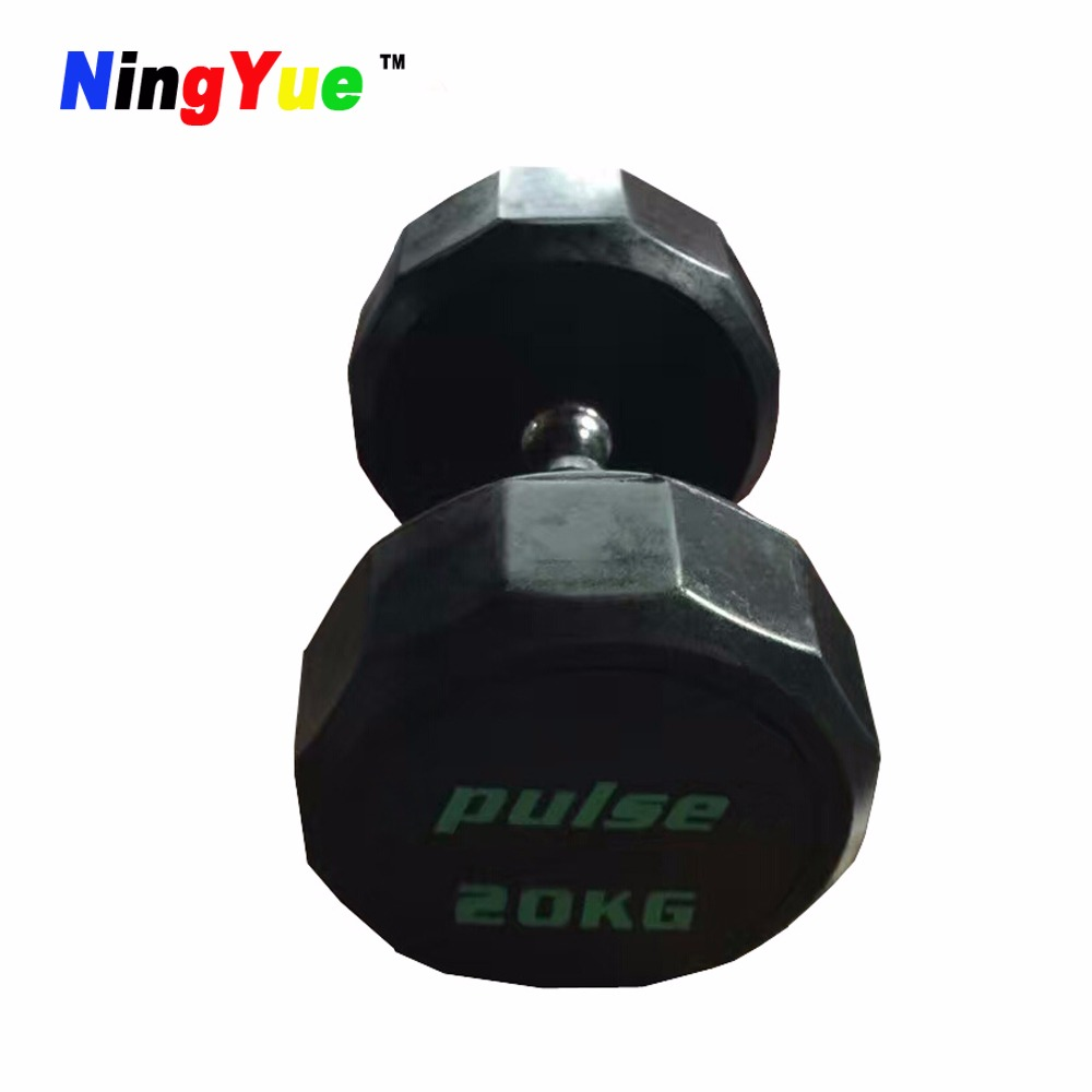 commercial dumbell weights set rubber dumbbell