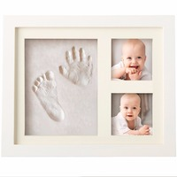 Hand and foot prints baby photo frame to commemorate the growth of baby