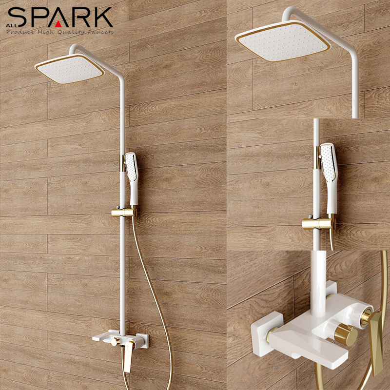 exposed shower system. Luxury Bathroom White Rain Exposed Shower System - Buy System,Rain System,Wall Mounted Product On Alibaba.com S