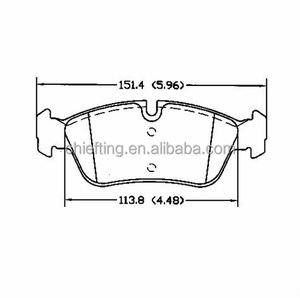 D781 34 11 6 761 244 fronts for BMW Wiesmann Brilliance BMW lucas brake pad