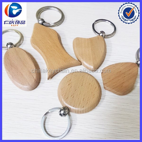 Promotional cheap Wood key tag with Logo