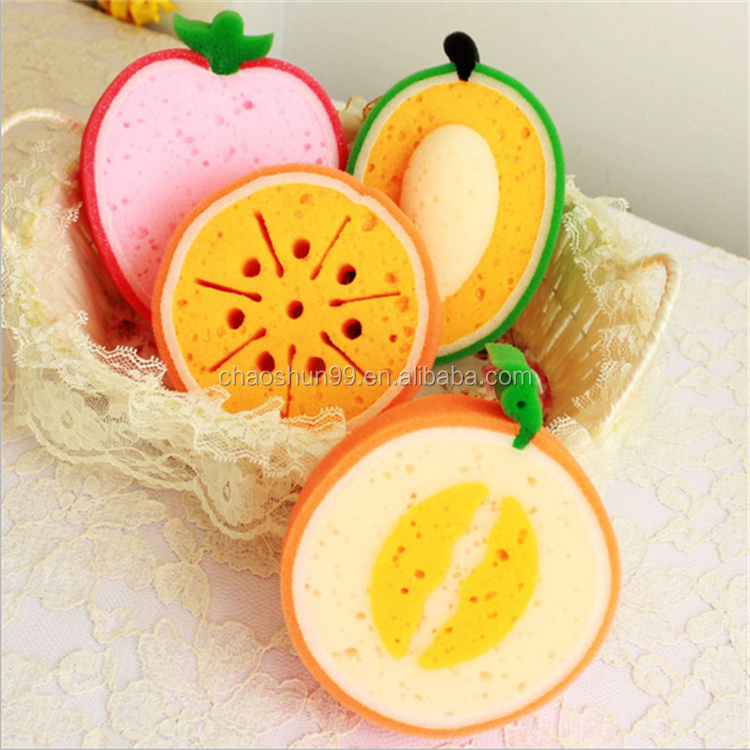Fruit bath sponge exfoliating sponge for shower baby bath sponges