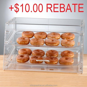Clear Acrylic 2 Tray Donut Display Case
