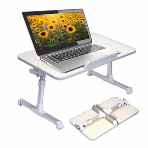 Factory Computer Desk Aluminum 17 Inch Office Adjustable Foldable Wooden Bed Tray Overbed Laptop Bedside Table