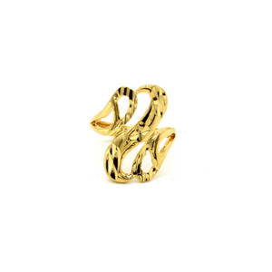 Wholesale India latest fashion jewelry ring wedding fashion big gold ring