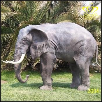 Bon Garden Decor High Quality Life Size Fiberglass Animal Elephant For Sale