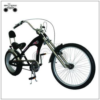 20-24 Inch Hot Sale Steel Frame Mens Black Chopper Bike Cycling ...
