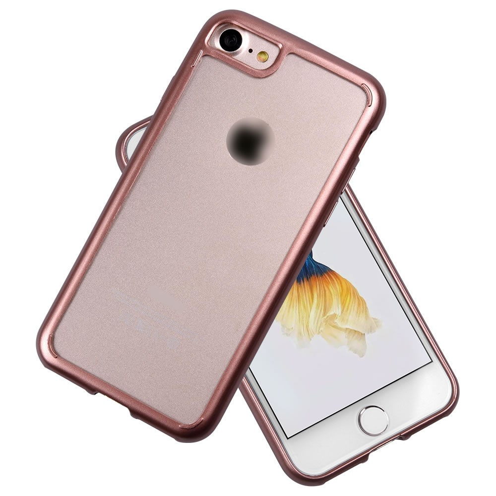 C&T Colorful TPU Bumper + Clear PC back Case for Apple Iphone 7