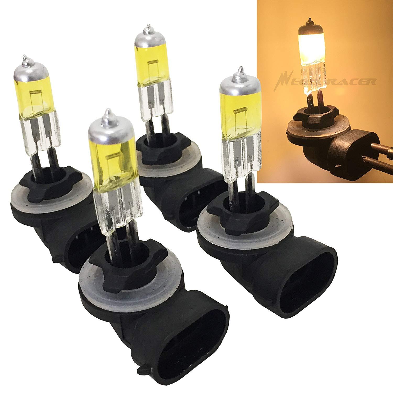Mega Racer Combo 2 Pair 881 862 886 894 896 898 Yellow 27W 3000K Xenon Halogen Headlight (Fog Light) Lamp Bulb US