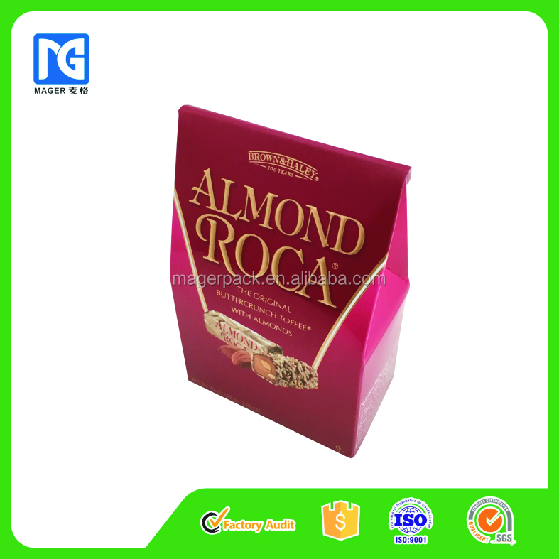 Small Tent Paper/Cardboard Box for Candy/Chocolates Packaging