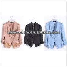 ladies korean fashion elegant clothes with lace