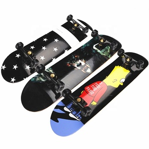 AAAA Grade Imported Maple Sports Skateboard with PU Wheel for Oille POP shove back size 180 games