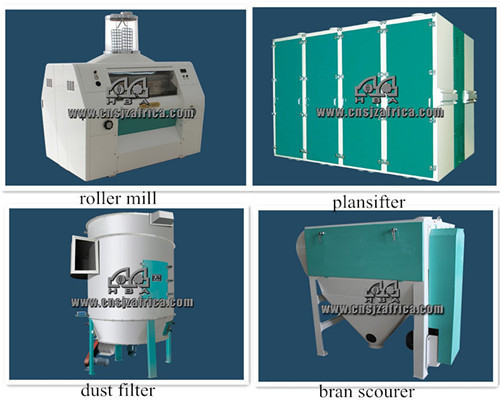 300T per 24h steel structure automatic flour mill machine