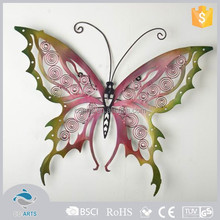 New product popular good quality cast wrought iron butterfly wall decor