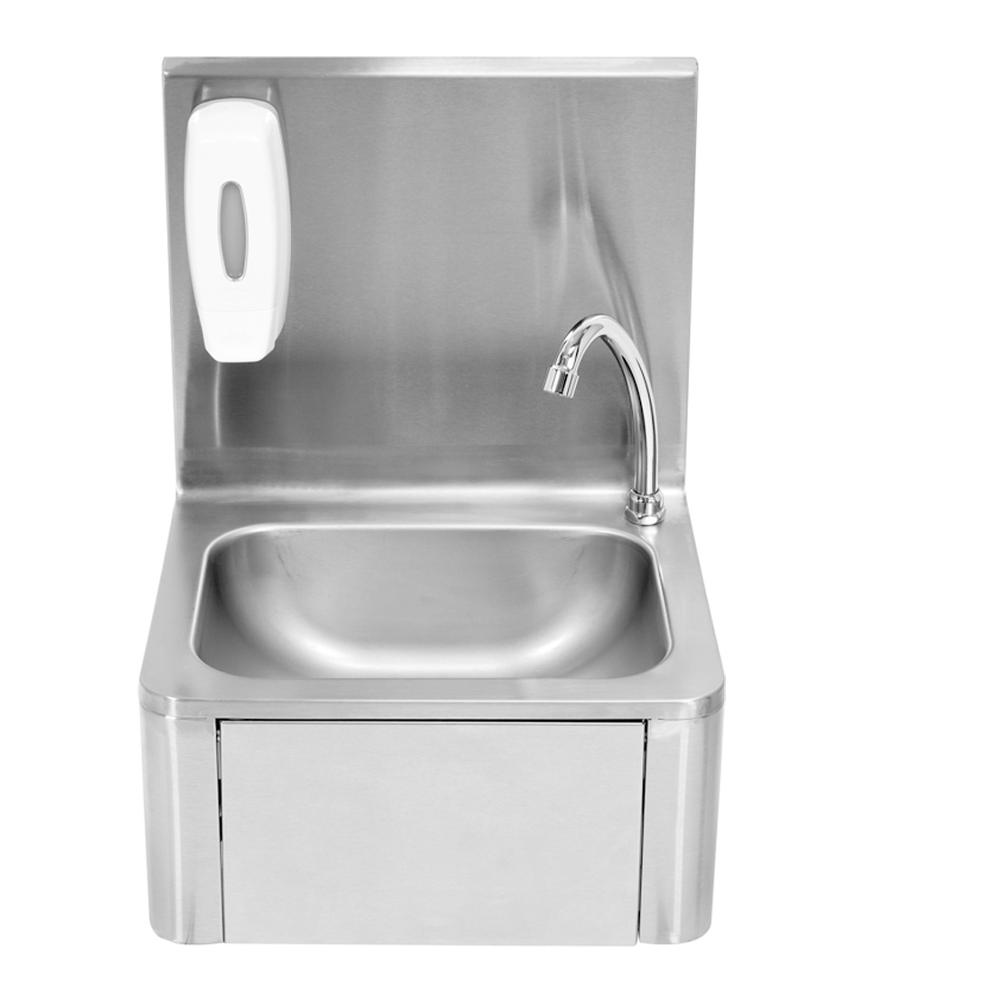 Hand Free foot operated kitchen sink, commercial wash hand basin