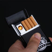 electronic style USB rechargeable cigarette lighter case