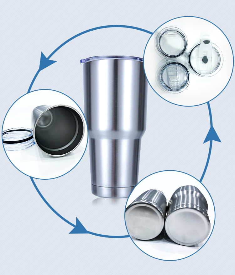 Double Wall Vacuum Insulated Travel 20oz Stainless Tumbler Cups
