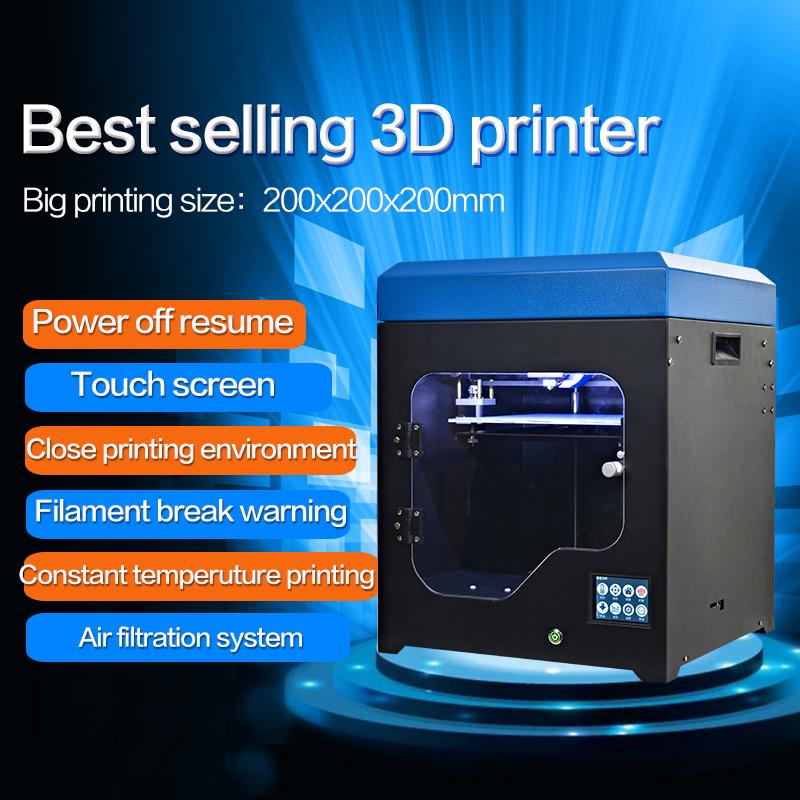 2019 prezzo basso 3d di stampa e CE, FCC, certificazione di RoHs 3d metallico della stampante per 3D stampa