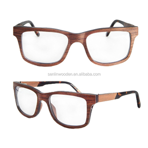 2018 New model veneer wood optical glasses with custom logo