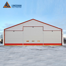 Modular cheap steel frame aircraft hangar construction