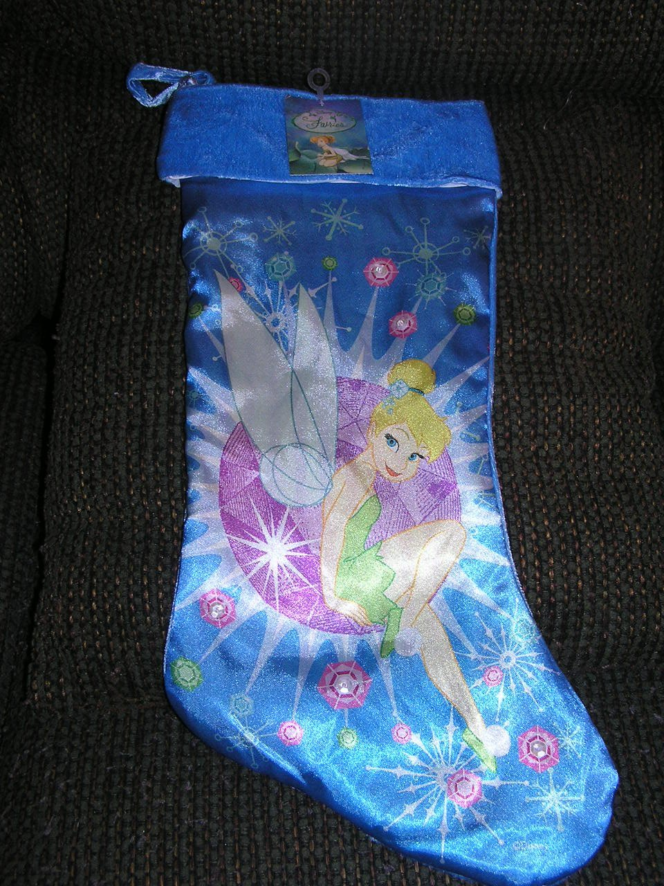 """Disney Fairies Tinkerbell 19"""" Christmas Stocking"""