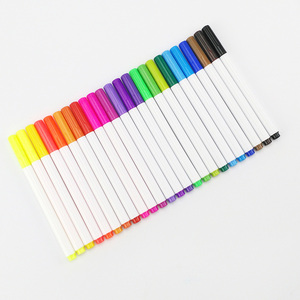 Promotional 26 Colors Permanent Fabric Marker Pen Set, Non-toxic Waterproof Textile Marker Pen For Kids Drawing and Painting