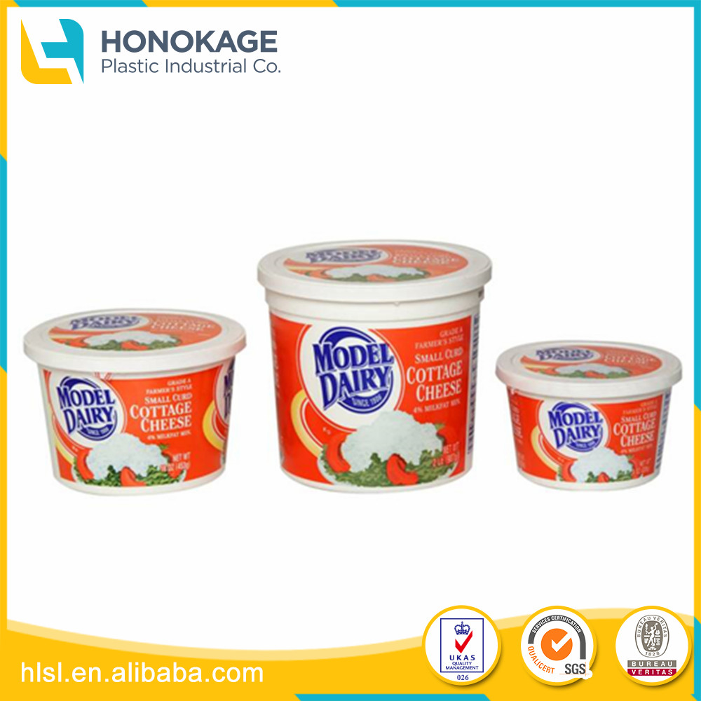 Different Size Type of Wholesale 4oz Plastic Food Containers for Butter Packing, 12oz Disposable Plastic Cup