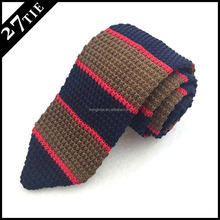 Perfect knot 100% silk wholesale knitted necktie,point end shape tie