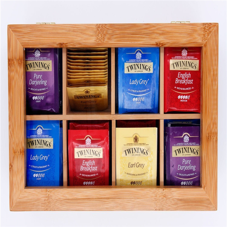Wooden Bamboo Tea Storage Box MSL Details