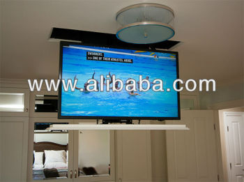 remote automated tv drop down lift pop down ceiling mount. Black Bedroom Furniture Sets. Home Design Ideas