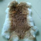 Real Natural Rabbit Fur Plate Skin fur natural color rabbit fur scrap