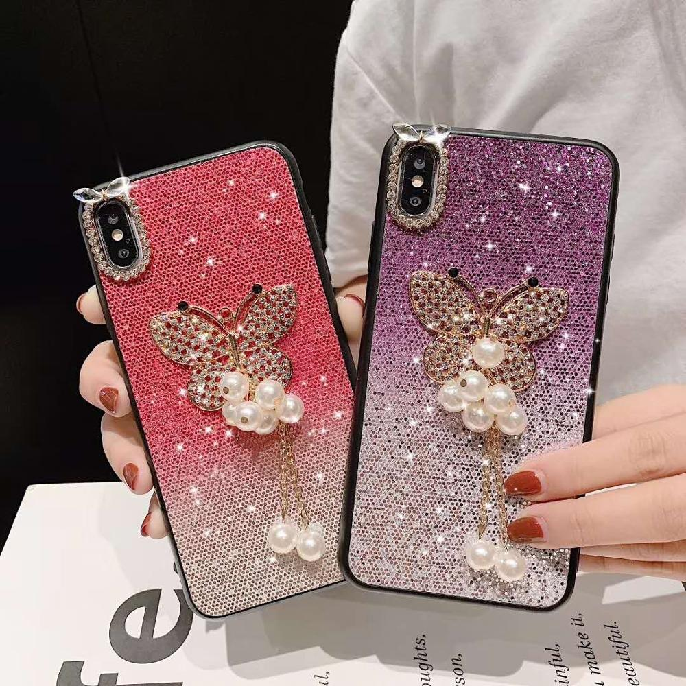 Glitter Sparkle Bling Soft Protective Cell Phone Case (Butterfly) For IPHONE XS MAX CASE фото