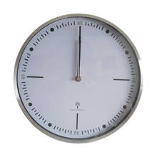 Modern thin frame custom made aluminium wall clock with DCF RCC movement