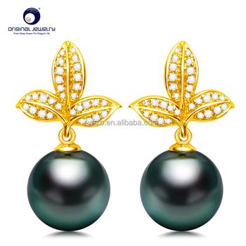Ys Fine Jewelry Bulk Price 8 9mm 18k Gold Black Cultured Tahitian Pearl