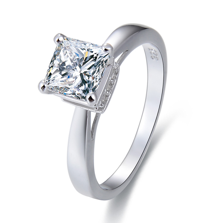 POLIVA Samoan Design Old Fashion Custom Expensive S925 Silver Princess Cut Single Diamond Engagement Wedding <strong>Ring</strong>