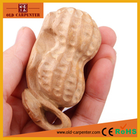 Factory promotion handheld Peanut homemade art minds wood craft