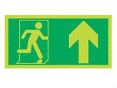Photoluminous fire exit sign/glow in the dark signs