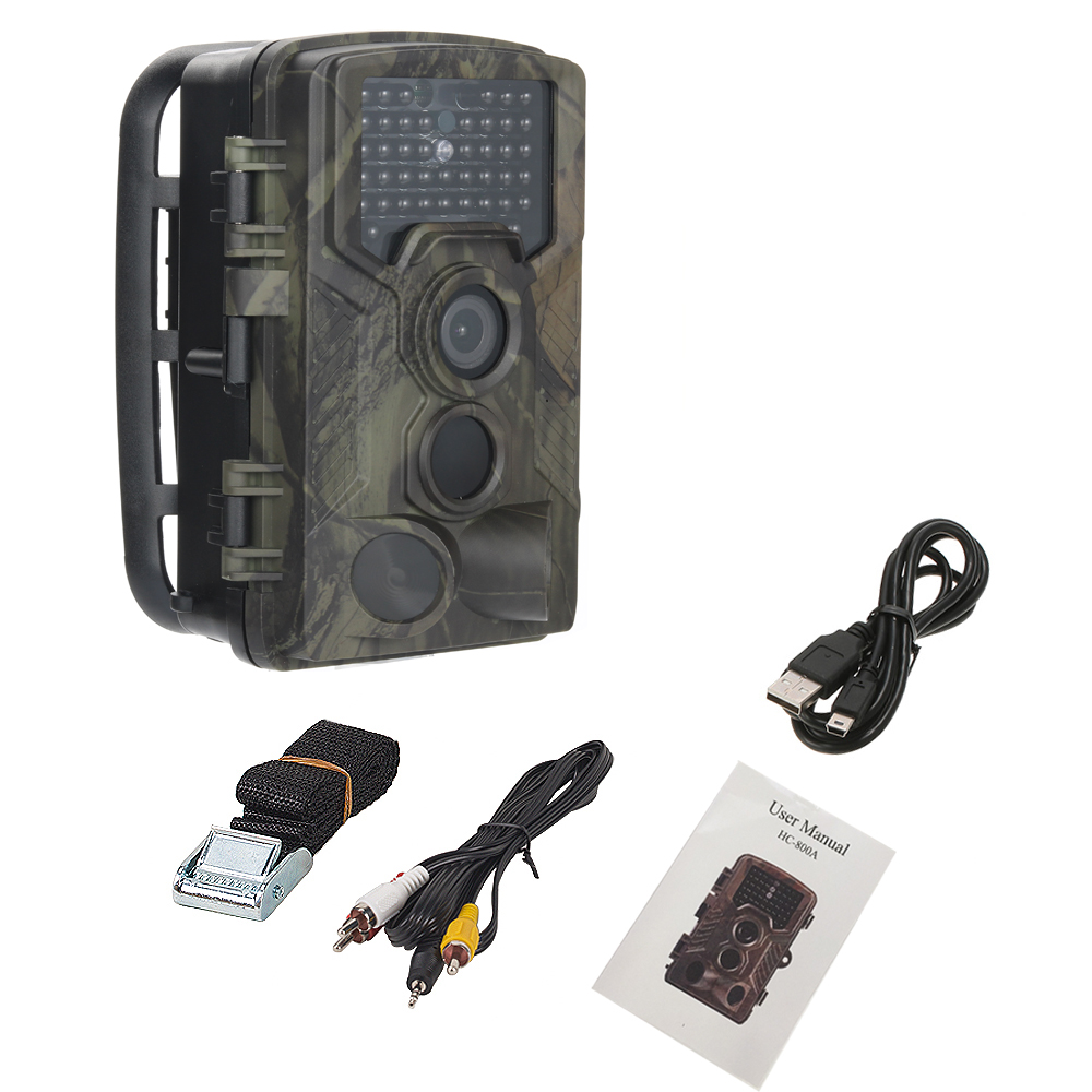 SUNTEK HC-800A 12MP Digital Infrared Camera 120 Degree PIR Detect Range Animal Trap Hidden Camera