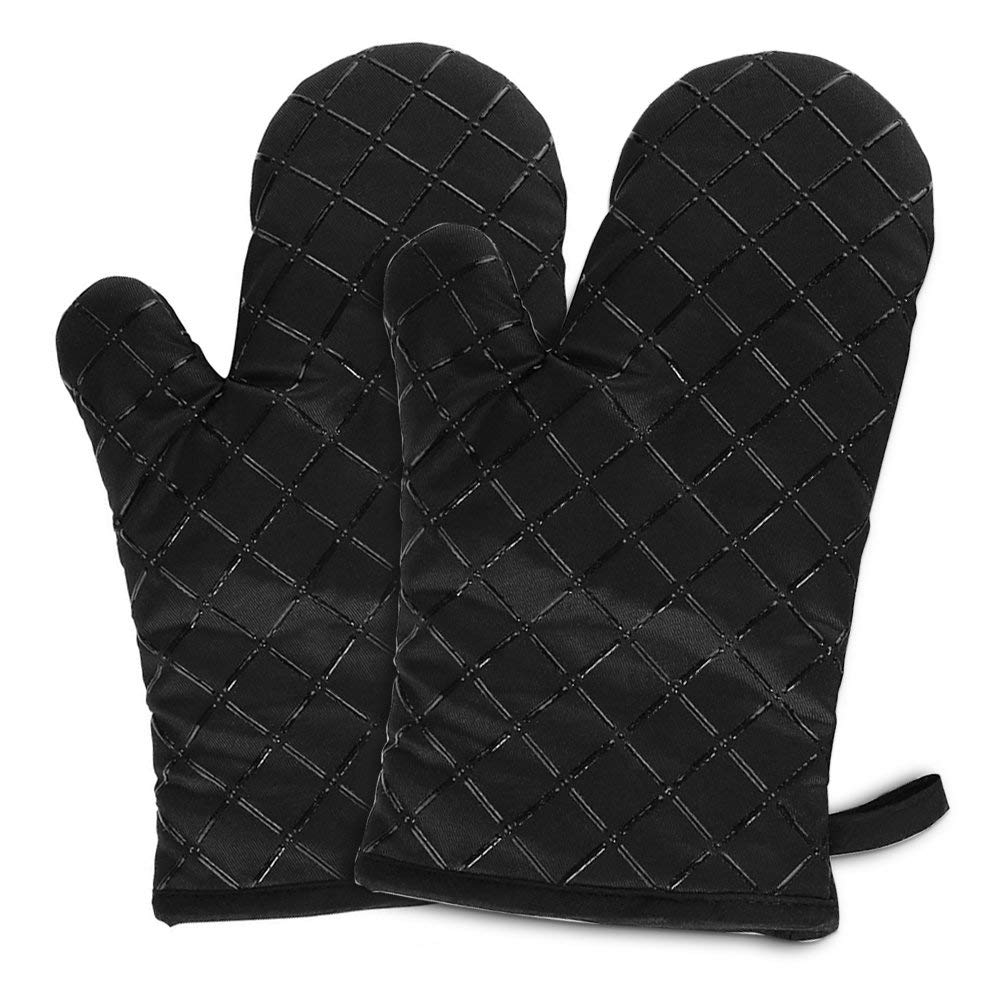 oven mitts, toaster oven mitts, microwave oven mitts, oven mitts men, oven mitts for kids, Non-slip Silicone Potholder for Cooking, Baking, Grilling, Holding Pot, oven mitts black