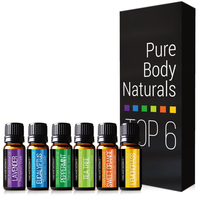 Free Shipping Essential Oil, 100% Pure Therapeutic Grade Organic Aromatherapy Essential Oil Gift Set