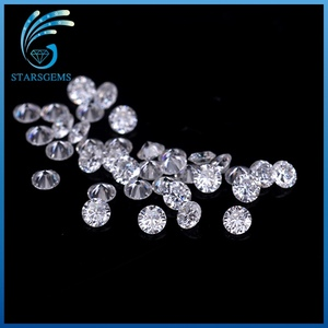 2.5mm round brilliant cut gemstone shape white synthetic moissanite