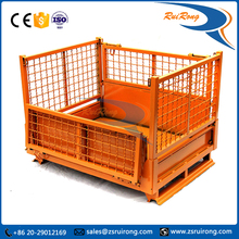 industrial stackable and lockable rigid heavy duty metal storage bins