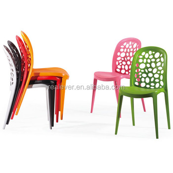 Wholesale PP Famous Design Stackable Plastic Dining Chair