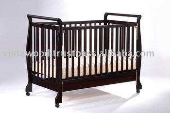 Crib Wooden Playpen Convertible Cot Bed Baby Wooden Cot