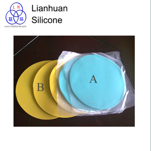 Silicone rubbers for spin casting A part