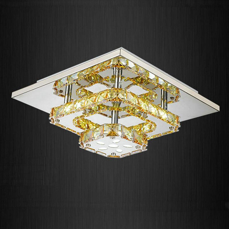 Small Hallway Lights: Modern Led Crystal Small Ceiling Lights Flush Mount Light