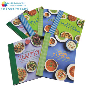 Custom offset colorful cooking photo book printing