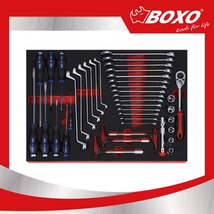 BOXO BXA078-R 78pcs General Car Body Work Tool Kit Set For Trolley